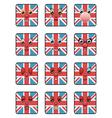 union jack emoticons vector image