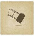 camera film roll old background vector image