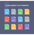 Document File Formats vector image