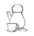 kettle kitchen utensil vector image