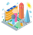 modern future building eco concept isometric view vector image