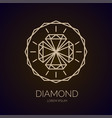 modern linear fashion logo diamond vector image