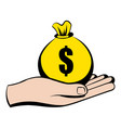 money in hand icon icon cartoon vector image