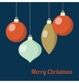 Retro Christmas greeting card invitation Hanging vector image