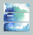 set of three watercolor banners vector image
