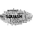 squash word cloud concept vector image