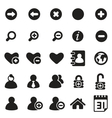 universal icons for web mobile vector image