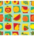 Seamless pattern with fruits on blue background vector image
