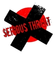 Serious Threat rubber stamp vector image