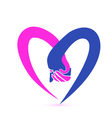 Couple holding hands logo vector image