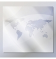 transparent world map background vector image vector image
