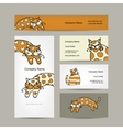 Art cats Business cards design vector image vector image