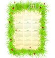 vector illustration of spring 2012 calendar starti vector image vector image