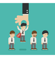 Choosing the best candidate business man vector image