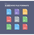 Archive File Formats vector image