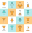 Awards Line Icons Set vector image