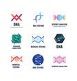 dna code biotech science genetics logo vector image