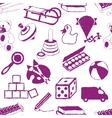 doodle toys seamless pattern vector image