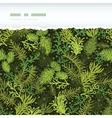 Evergreen christmas tree horizontal torn frame vector image