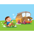 Girls bicycle shall accident vector image
