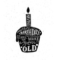 Having Another Birthday Does Not Make You Old text vector image
