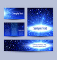 molecule structure glowing background banners set vector image