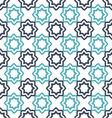 seamless floral geometric pattern Oriental vector image