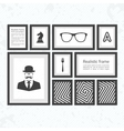 Set of black realistic frames vector image