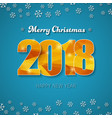 template of a square banner merry christmas and vector image