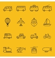 thin line icons of transport vector image