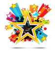 abstract celebration star background design vector image