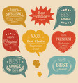 premium logos set flat style speech vector image