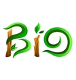 Green bio word vector image vector image