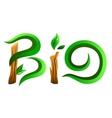 Green bio word vector image