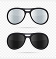glasses set on transparent background vector image