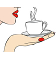 The aroma of coffee vector image