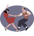 Lindy Hop dancing vector image