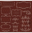 Calligraphy decorative borders ornamental rules vector image