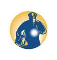 Security Guard Policeman vector image