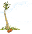 palm tree in island vector image