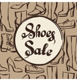 Background with lettering sale shoes Hand drawn vector image