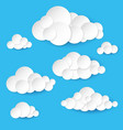 abstract paper clouds on white background vector image