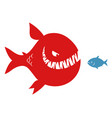 big evil fish and small fish vector image