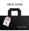 big sale end of season on bag in colorful vector image