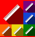 centimeter ruler sign set of icons with vector image