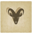 Goat head symbol old background vector image