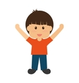 little boy icon Kid design graphic vector image