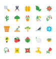 nature and ecology flat colored icons 2 vector image