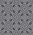 seamless monochrome ornament vector image