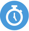 stopwatch in circle icon vector image